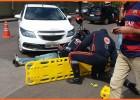 Motociclista fica ferido após envolver em acidente com veiculo na Esplanada da Estação