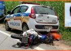 Motociclista morre após envolver em acidente contra um VW Saveiro em seguida uma viatura em Santa Maria de Itabira