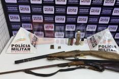 Homem é preso com armas no Distrito de Cordeiro de Minas em Caratinga