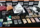 Polícia Militar prende oito suspeitos de tráfico de drogas, roubo e porte de armas