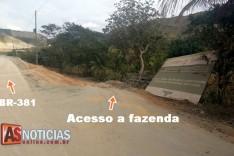 Obra de duplicação da BR-381 tem prejudicado moradores as margens da rodovia em Jaguaraçu
