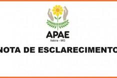 Nota de esclarecimento da APAE Itabira