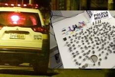 PM apreende 195 buchas de maconha e munições no bairro Juca Rosa