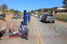 Motociclista sofre fratura ao colidir moto contra um Fiat Uno no Barro Branco em Itabira