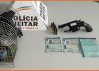 Policia Rodoviária (PRV) prende dois homens com revolver e pássaros silvestres na MG-129