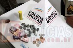 PM deteve seis pessoas durante ocorrência de trafico de drogas no bairro Juca Rosa em Itabira