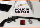 PM de Ferros apreende Garruchão e munições durante abordagem preventiva