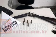 PM de Barão de Cocais apreende mais uma arma de fogo no Distrito de Cocais