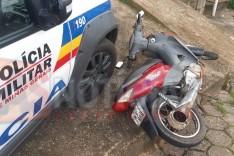 PM apreende adolescente em motocicleta, pinos de cocaína e dinheiro no bairro Eldorado em Itabira