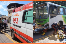 PM registra dois acidentes de transito na Avenida Rio Doce envolvendo motocicletas