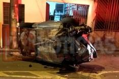 Um grave acidente foi registrado em que o condutor é suspeito de estar embriagado ao volante na Vila Paciência