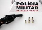 POLÍCIA MILITAR APREENDE ARMA DE FOGO E MUNIÇÕES EM SANTA BÁRBARA.