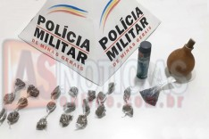 Denuncia anônima ajuda Policia Militar a localizar drogas, chumbo e pólvora no Nova Vista