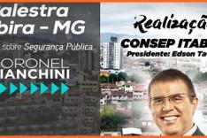 "Coronel Bianchini ministra palestra ""Segurança Pública"""