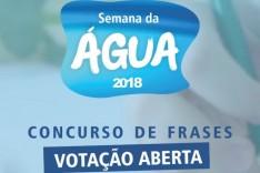 Prefeitura realiza enquete para escolher melhor frase sobre água