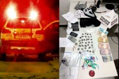 PM prende e apreende envolvidos suspeitos de trafico de drogas no bairro Gabiroba