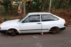 PM localiza e recupera Gol furtado em São Gonçalo depenado no bairro Boa Esperança em Itabira