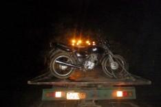 Rodoviários mais uma vez localizam motocicleta furtada antes mesmo que o dono tomasse conhecimento na região das Bateias