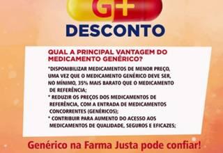 Super Promoção Terça G (Genérico) com descontos imperdíveis da Farma Justa