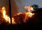 Fogo destrói grande parte da vegetação no Pico do Amor neste sábado
