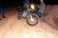 PM e vitima de assalto agem rápido e localizam moto através de rastreador na localidade do Cutucum no Distrito do Carmo