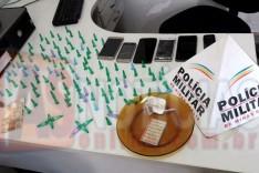 PM de Barão de Cocais apreende drogas e celulares e prende quatro envolvidos no trafico de drogas e associação criminosa