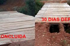 Menos de 30 dias moradores de Itauninha já deparam com problemas na ponte do Vaibão