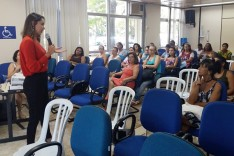 Programação do mês da mulher, delegada ministrou palestra sobre violência domestica