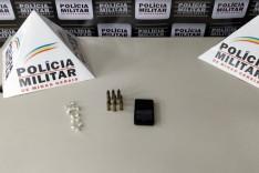 PM apreende 14 pedras de crack e munições no bairro Promorar em João Monlevade