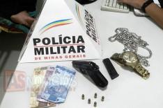 Policia Militar prende jovem com pistola Beretta carregada na Rua Santa Luzia no Jardim das Oliveiras