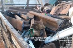 Homens são presos em caminhão de ferro velho com trilhos furtados na área da Vale em Itabira