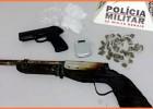 Polícia militar apreende drogas e réplicas de armas de fogo em Barão de Cocais