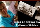 Convite para a missa de sétimo dia de Guilherme Vinicius