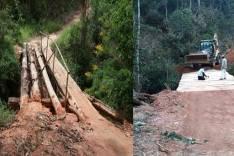 Ponte do Vaibão é concluída no Distrito de Itauninha em Santa Maria de Itabira