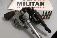 PM prende dois suspeitos com armas e ferramentas duvidosas em Bom Jesus do Amparo
