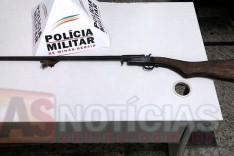 PM de Barão de Cocais apreende espingarda durante operação de combate a caça predatória em Sitio abandonado