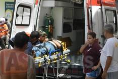 Homem cai de telhado é socorrido pelo SAMU com possível lesão grave na Vila Piedade
