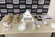 PM apreende grande quantidade de drogas em João Monlevade