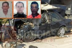 Três mortos em acidente entre Monza e Carreta no novo trevo de Bom Jesus do Amparo
