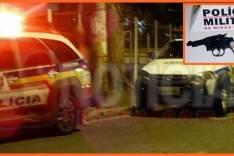 PM prendem suspeitos no momento em que terminavam assalto na Praça do Areão em Itabira