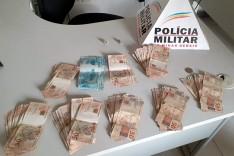 Policia Militar apreende cerca de 7 mil reais e maconha no bairro Nova Vista em Itabira