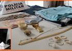 PM prende homem após furto em residencia no bairro São Pedro e recupera grande parte de objetos furtados