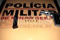 Homem é preso com pistola 380 durante operação conjunta da Rodoviários e Militares
