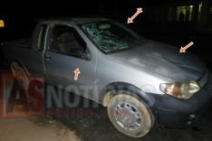 Aposentado sai ileso depois de atropelar um animal solto na pista no final do bairro Praia