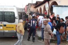 Um gravíssimo acidente deixou uma criança ferida em estado grave e um motociclista ferido no bairro Amazonas
