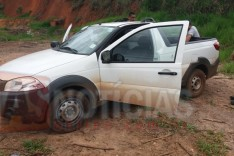 Empresa é assaltada e rastreador de veiculo ajuda a localizar caminhonete na rampa de Voo Livre em Itabira