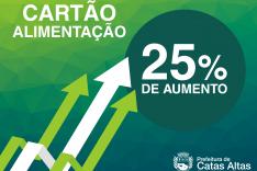 Prefeitura de Catas Altas aumenta em 25% vale-alimentação dos servidores