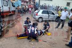 Inabilitado fica ferido ao colidir contra Fiat Palio estacionado no bairro Juca Rosa em Itabira