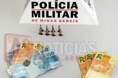 GEPMOR prende dois e apreende pedras de crack e dinheiro no bairro Machado em Itabira