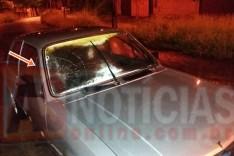 Mulher é socorrida depois de atropelada na Avenida dos Médicos no bairro Gabiroba em Itabira